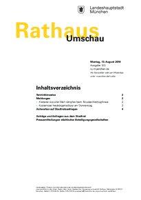 Rathaus Umschau 153 / 2018