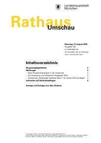 Rathaus Umschau 158 / 2018