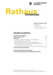 Rathaus Umschau 167 / 2018