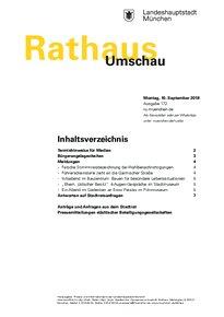 Rathaus Umschau 172 / 2018