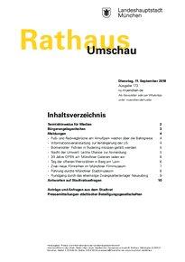 Rathaus Umschau 173 / 2018