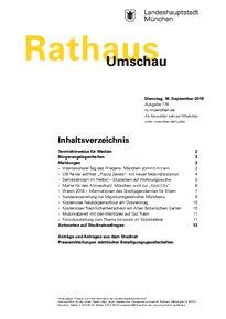 Rathaus Umschau 178 / 2018
