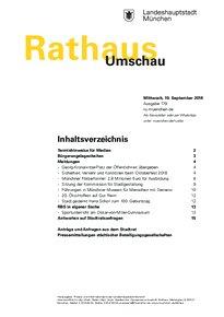 Rathaus Umschau 179 / 2018