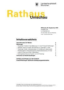 Rathaus Umschau 184 / 2018