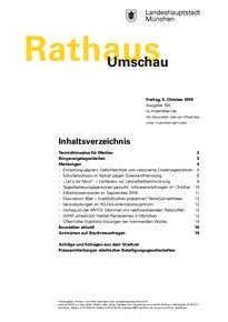 Rathaus Umschau 190 / 2018