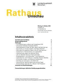 Rathaus Umschau 191 / 2018