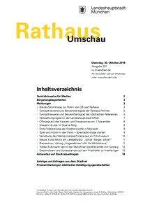 Rathaus Umschau 207 / 2018