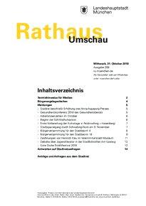 Rathaus Umschau 208 / 2018