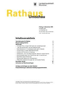 Rathaus Umschau 209 / 2018