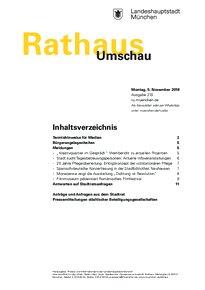 Rathaus Umschau 210 / 2018