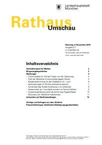 Rathaus Umschau 211 / 2018