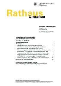 Rathaus Umschau 213 / 2018