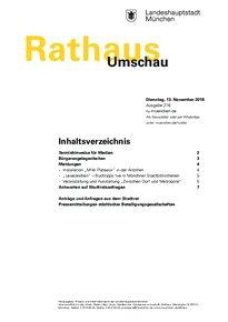 Rathaus Umschau 216 / 2018