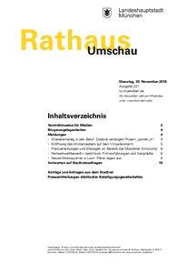 Rathaus Umschau 221 / 2018