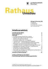 Rathaus Umschau 225 / 2018