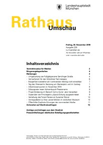 Rathaus Umschau 229 / 2018