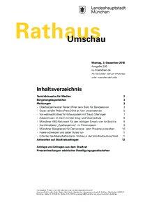 Rathaus Umschau 230 / 2018