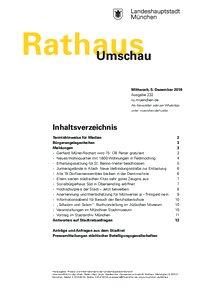 Rathaus Umschau 232 / 2018