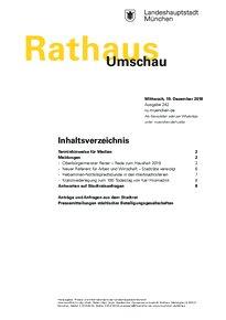 Rathaus Umschau 242 / 2018