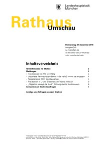 Rathaus Umschau 245 / 2018