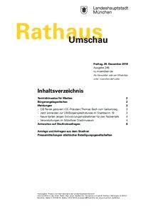 Rathaus Umschau 246 / 2018