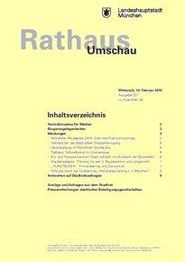 Rathaus Umschau 31 / 2018