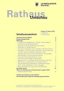 Rathaus Umschau 33 / 2018
