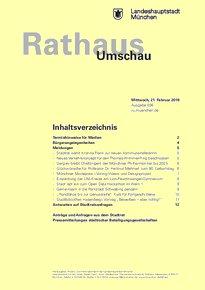 Rathaus Umschau 36 / 2018