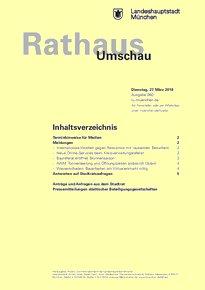 Rathaus Umschau 60 / 2018