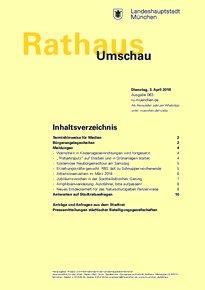 Rathaus Umschau 63 / 2018