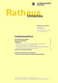 Rathaus Umschau 64 / 2018