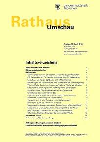 Rathaus Umschau 71 / 2018