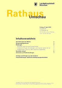 Rathaus Umschau 81 / 2018