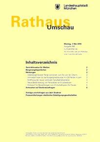 Rathaus Umschau 86 / 2018