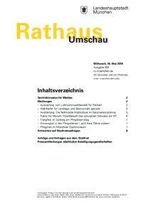 Rathaus Umschau 92 / 2018
