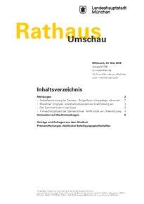Rathaus Umschau 96 / 2018