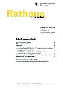 Rathaus Umschau 11 / 2019
