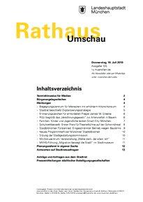 Rathaus Umschau 135 / 2019