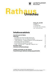 Rathaus Umschau 141 / 2019