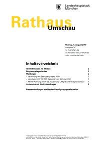 Rathaus Umschau 147 / 2019