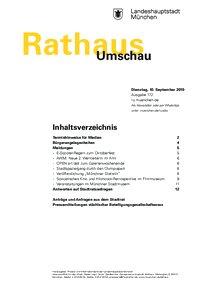 Rathaus Umschau 172 / 2019
