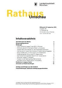 Rathaus Umschau 183 / 2019