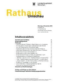 Rathaus Umschau 210 / 2019