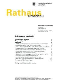 Rathaus Umschau 211 / 2019