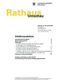 Rathaus Umschau 215 / 2019