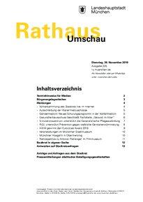 Rathaus Umschau 225 / 2019
