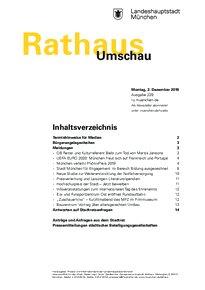 Rathaus Umschau 229 / 2019