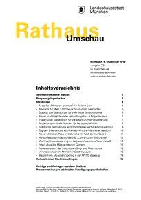 Rathaus Umschau 231 / 2019