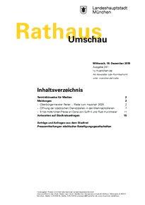 Rathaus Umschau 241 / 2019