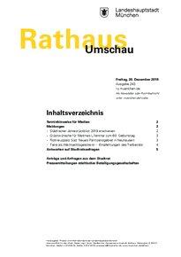 Rathaus Umschau 243 / 2019